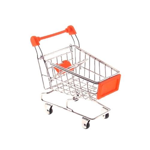 Miniatura Carrinho Supermercado Laranja - 12x10 cm
