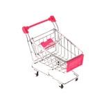 Miniatura Carrinho de Supermercado Rosa
