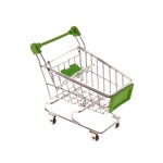 Miniatura Carrinho de Supermercado Verde