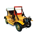 Miniatura Carro Conversível Amarelo