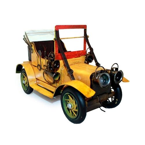 Miniatura Carro Conversível Amarelo - 27x15 cm