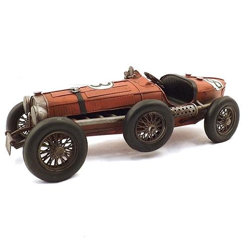 Miniatura de Carro de Corrida Antigo - Em Metal - 35x4 cm