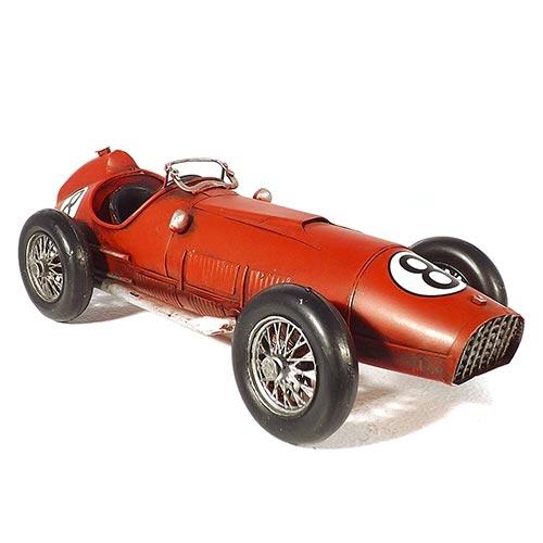 Miniatura de Carro de Corrida Clássico Oldway em Metal - 32x14 cm