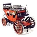 Miniatura Carruagem Vermelha em Metal Oldway