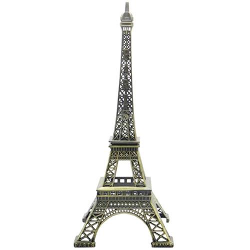 Miniatura Decorativa Torre Eiffel 18 em Metal - 18x8 cm