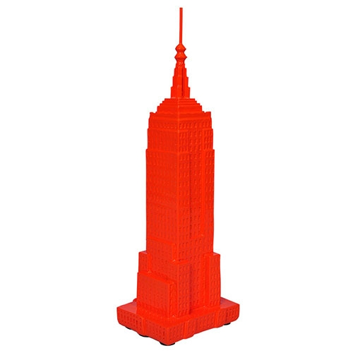 Miniatura Empire State Building Laranja em Resina - 33x10 cm