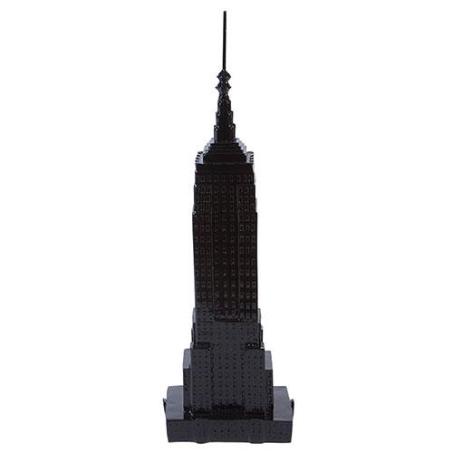 Miniatura Empire State Building Preto em Resina - 33x10 cm