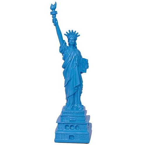 Miniatura Estátua da Liberdade Azul em Resina - 29x8 cm
