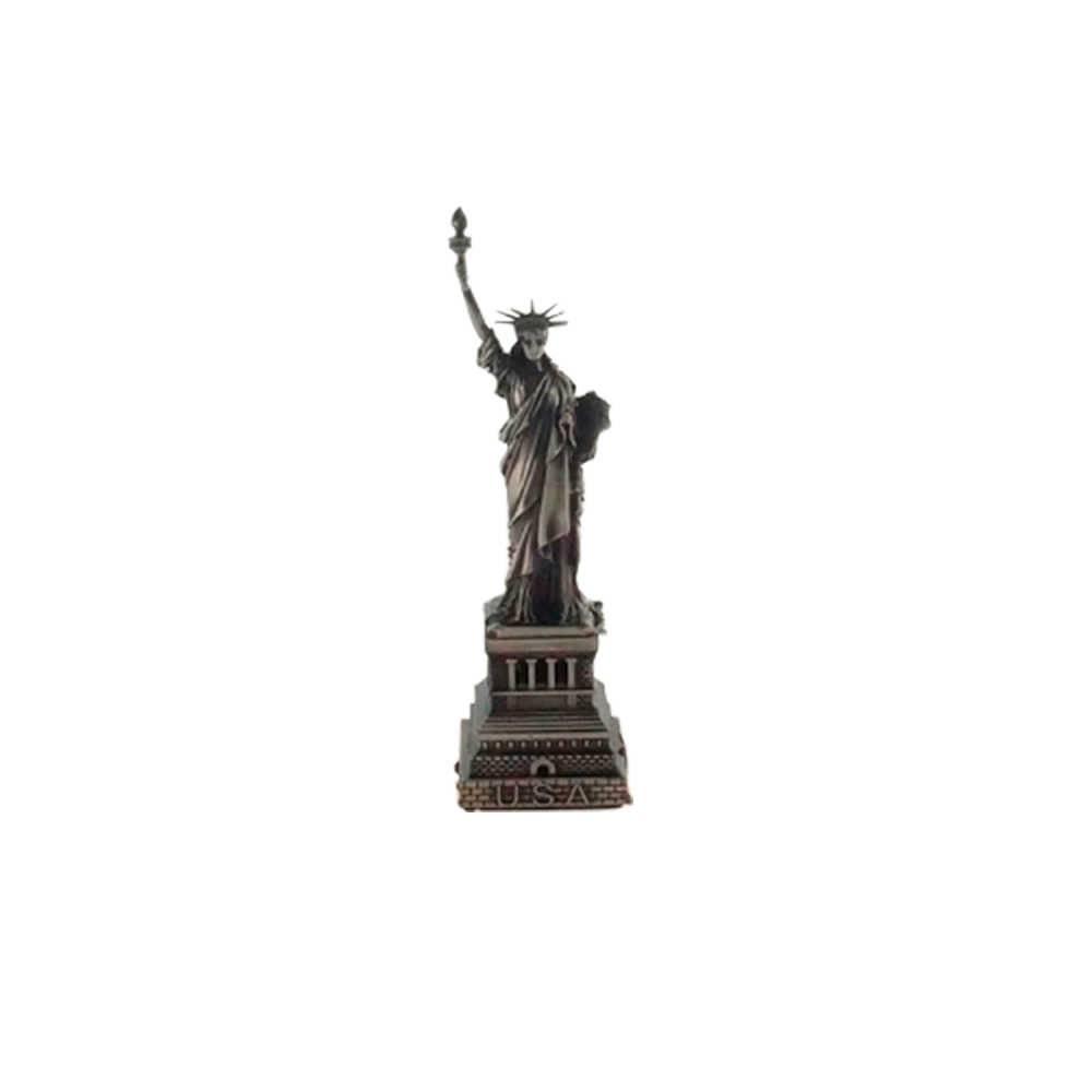 Miniatura Estátua da Liberdade Prata em Metal - 15x4 cm