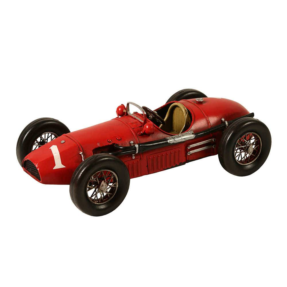 Miniatura Ferrari 1952 Vermelha em Metal - 31x15 cm