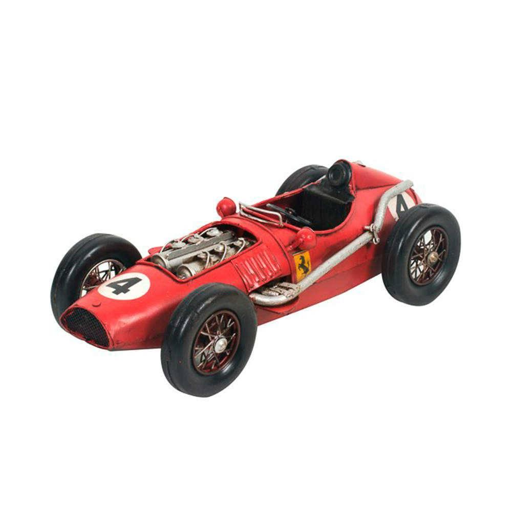 Miniatura Ferrari GP Vermelha em Metal - 35x14 cm