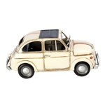 Miniatura Fiat 500 Branco Oldway - 33x17 cm