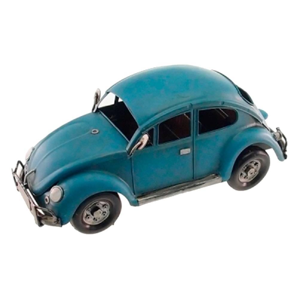 Miniatura Fusca Azul em Metal - 30x15 cm