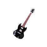 Miniatura Guitarra ACDC em Madeira - 25x8 cm