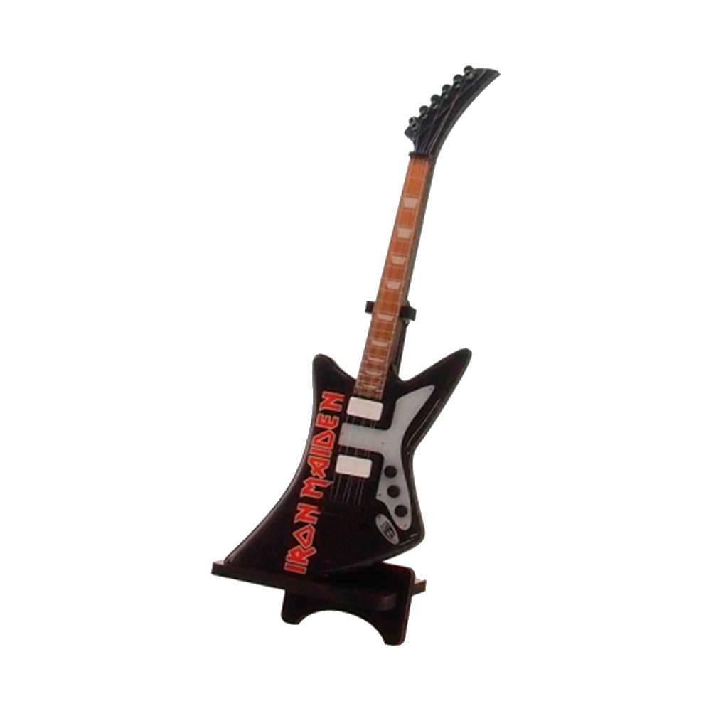 Miniatura Guitarra Iron Maden em Madeira - 24x8 cm