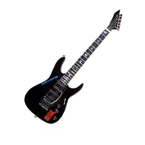 Miniatura de Guitarra Kirk Preto em Madeira - 25x8 cm
