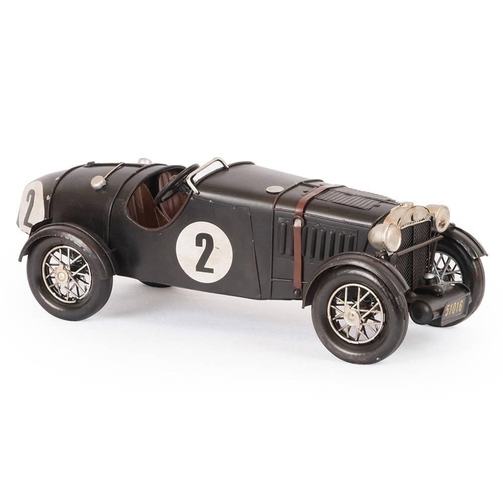 Miniatura Magnette Preto Modelo 1934 em Ferro - 32x13 cm