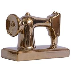 Miniatura Máquina de Costura Golden em Cerâmica