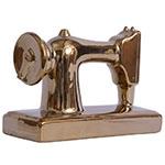 Miniatura Máquina de Costura Golden em Cerâmica - 21x15 cm