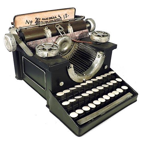 Miniatura Máquina de Escrever Grande Oldway - 31x22cm
