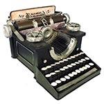 Miniatura Máquina Escrever Grande