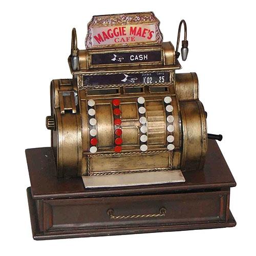 Miniatura Máquina Registradora GD Cash Oldway Grande - Metal - 32x31cm