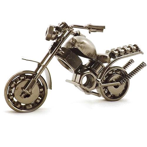 Miniatura de Moto 2 (Duas) Turbinas - Em Metal - 14x6 cm