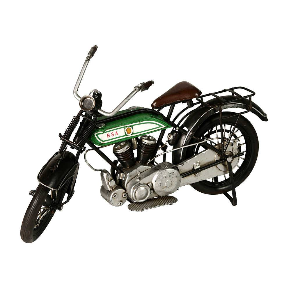 Miniatura de Moto BSA BK7216 Modelo E em Metal - 32x19 cm