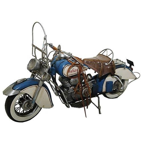 Miniatura de Moto Indian Chief 1947 Grande Oldway - Metal - 44x26cm