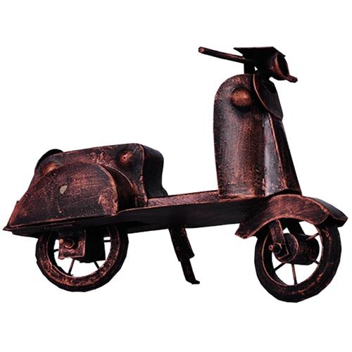 Miniatura de Moto Vespa Retrô em Metal - 23x17 cm
