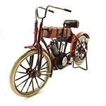 Miniatura de Moto Vespa Vermelha com Alforges Oldway