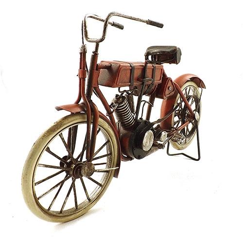 Miniatura de Moto Vespa Vermelha Oldway - Alforges no Banco - 33x19cm
