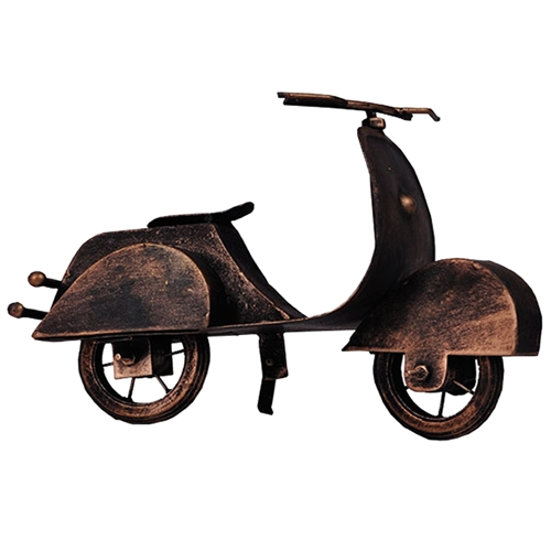 Miniatura de Moto Vespa Vintage em Metal - 23x16 cm