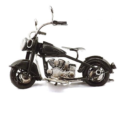 Miniatura de Motocicleta Preta - Em Metal - 11x10 cm