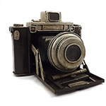 Réplica de Câmera Fotográfica Preta