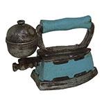 Miniatura Réplica Ferro Retrô Azul em Resina