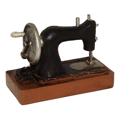 Miniatura Réplica Máquina de Costura Antiga em Resina - 15x11 cm