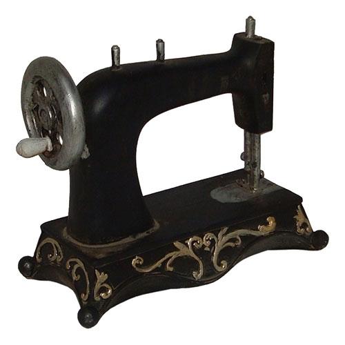 Miniatura Réplica Máquina de Costura Baixa em Resina - 19x14,5 cm