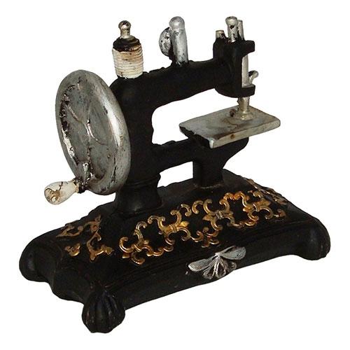 Miniatura Réplica Máquina de Costura Clássica em Resina - 16x14 cm