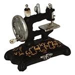 Miniatura Réplica Máquina de Costura Clássica em Resina