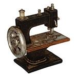 Miniatura Réplica Máquina de Costura Preta em Resina