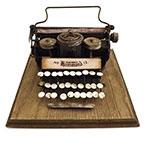 Miniatura Máquina de Escrever