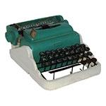 Miniatura Réplica Máquina de Escrever Branco em Resina