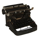 Miniatura Réplica Máquina de Escrever Preto em Resina