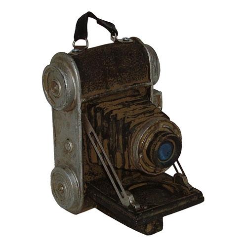 Miniatura Réplica Máquina Fotográfica com Alça em Resina - 13x11 cm