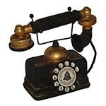 Miniatura Réplica Telefone 1935 Preto em Resina