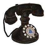 Miniatura Réplica Telefone 1940 Preto em Resina