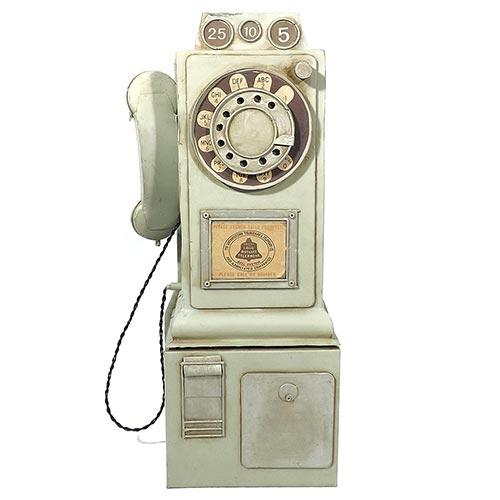 Miniatura Réplica Telefone Retrô Grande Oldway em Metal - 52x25 cm