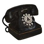 Miniatura Réplica Telefone Retrô Preto em Resina