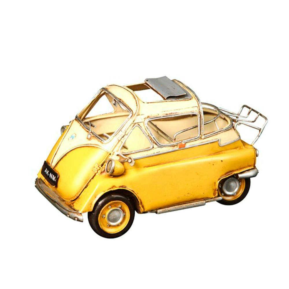 Miniatura Romizetta Amarela e Branca em Metal - 25x13 cm